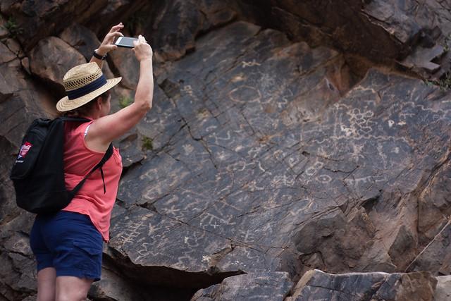 Petroglyphs near caves