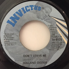 HOLAND-DOZIER FEATURING LAMOND DOZIER:WHY CAN'T WE BE LOVERS(LABEL SIDE-B)