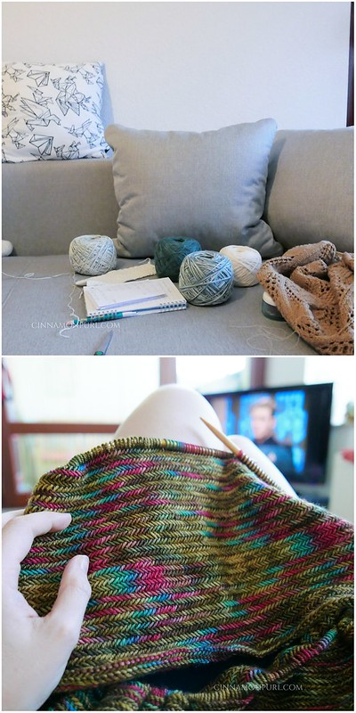 yarnlove and knitting herringbone cowl