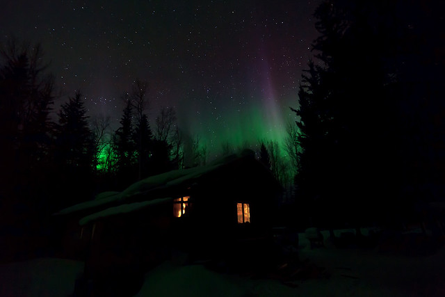 032717 - Colorful Lights Top the Salcha Cabin