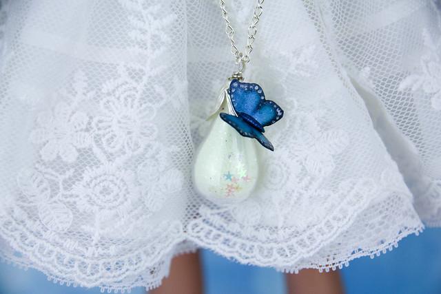 OOAK Butterfly glass bags glow-in-the-dark