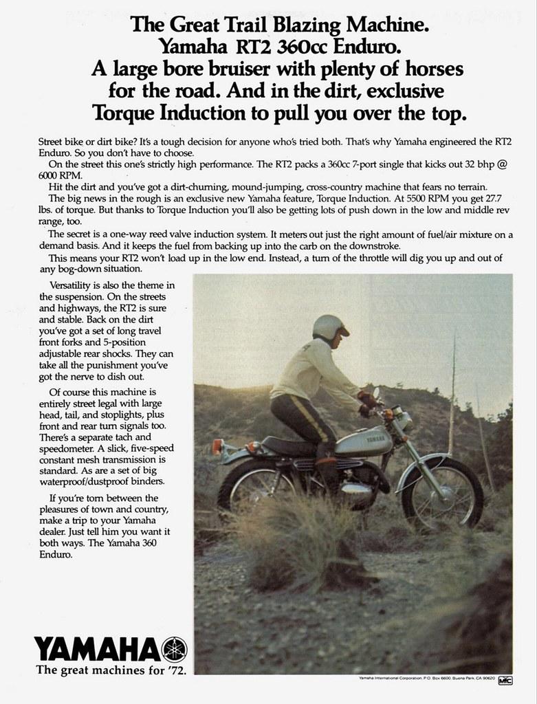 1972 yamaha rt2 360 enduro ad tony blazier flickr Yamaha DT2 1972 yamaha rt2 360 enduro ad by tony blazier