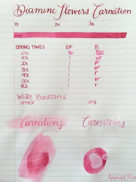 Ink Shot Review Diamine Flowers Carnation @AppelboomLaren 1
