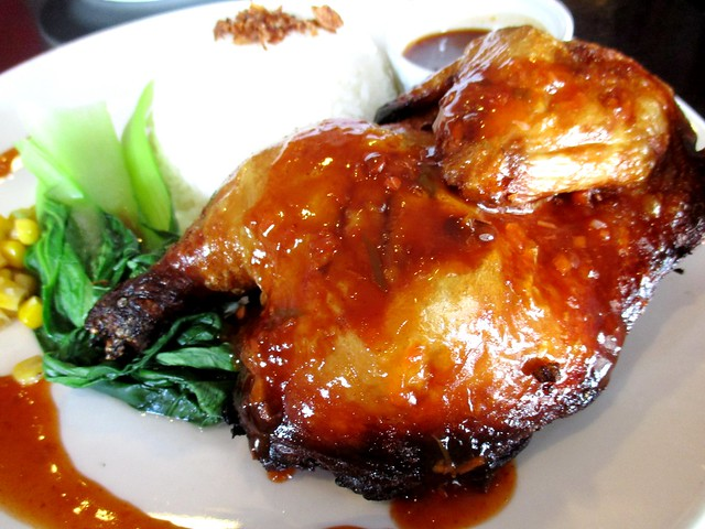 Le Cafe barbecued chicken