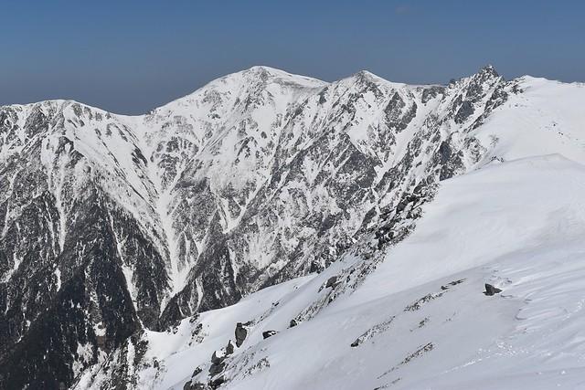 三ノ沢岳山頂から眺める木曽駒ヶ岳~宝剣岳