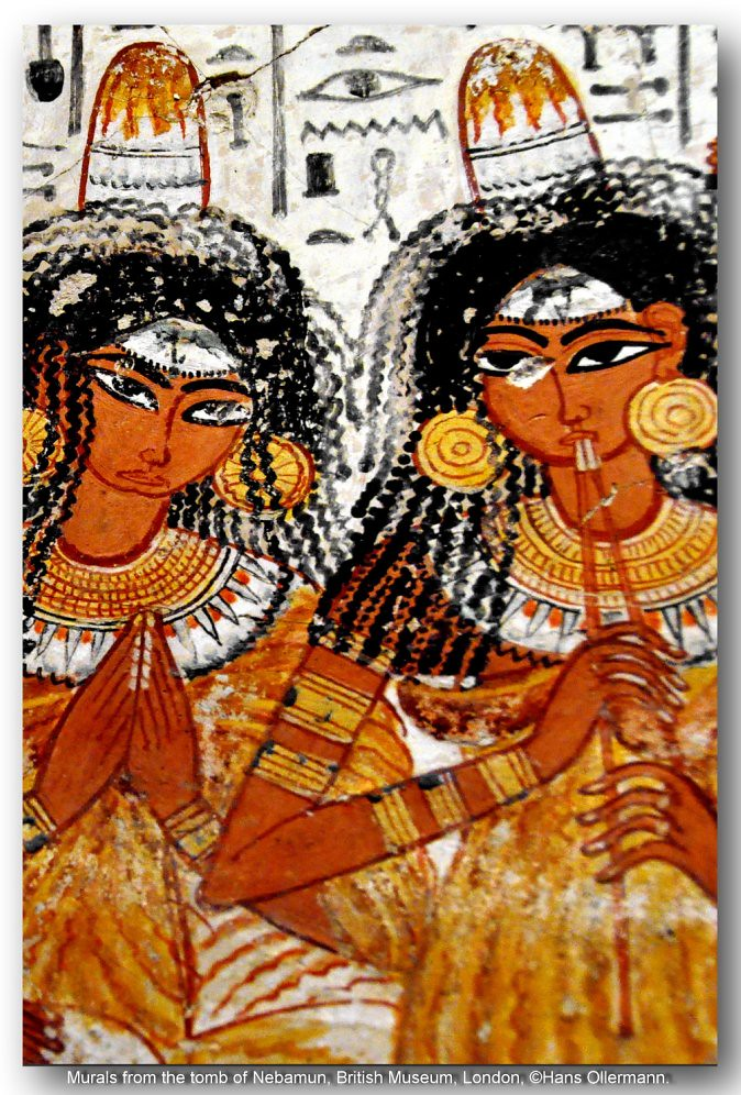 Murals from the tomb of nebamun british museum london for Ancient egyptian mural paintings