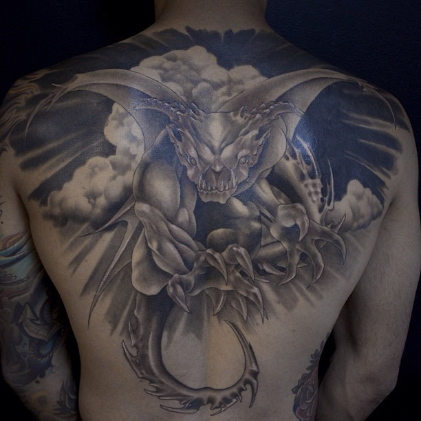 Flashback Of A Griffin Backpiece Tattoo  Flickr Photo Sharing