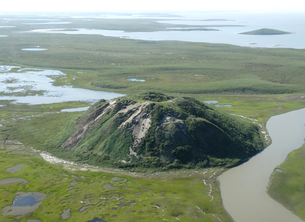 Ibyuk - Canada's Tallest Pingo - Viewed from Cessna 172 - Outside Tuktoyaktuk - Northwest Territories - Canada