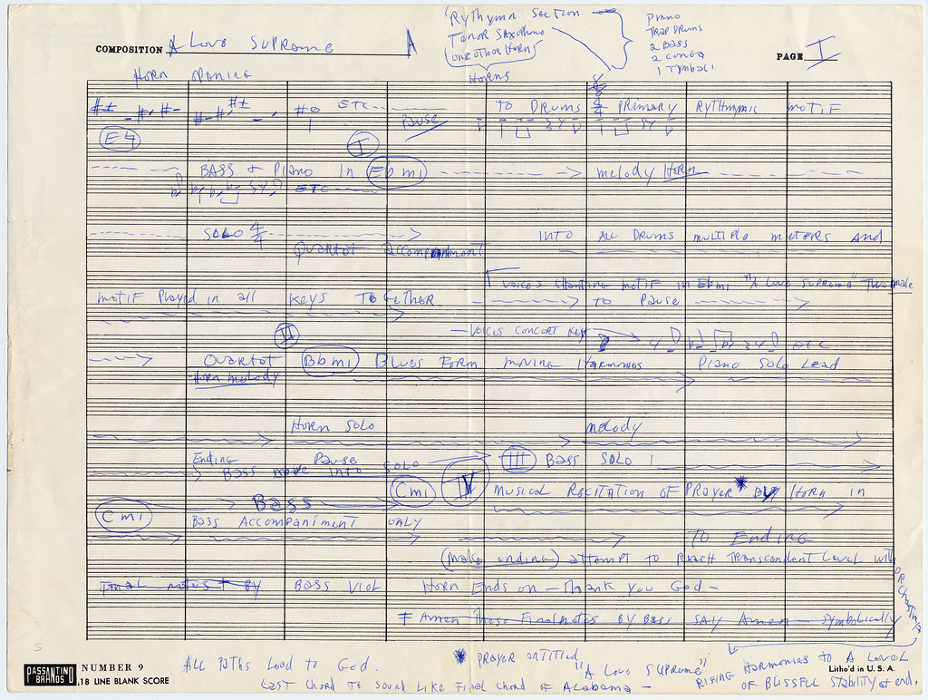 Paper Weight Chart Pdf: Manuscript of A Love Supreme by John Coltrane 1964 | Flickr,Chart