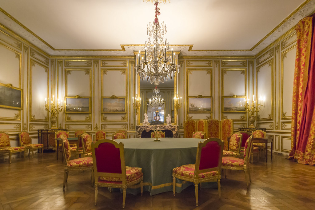 The games room of Louis XVI, Palace of Versailles, France ...
