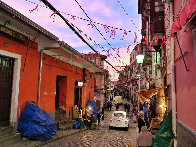 Sunset on Calle Linares, La Paz