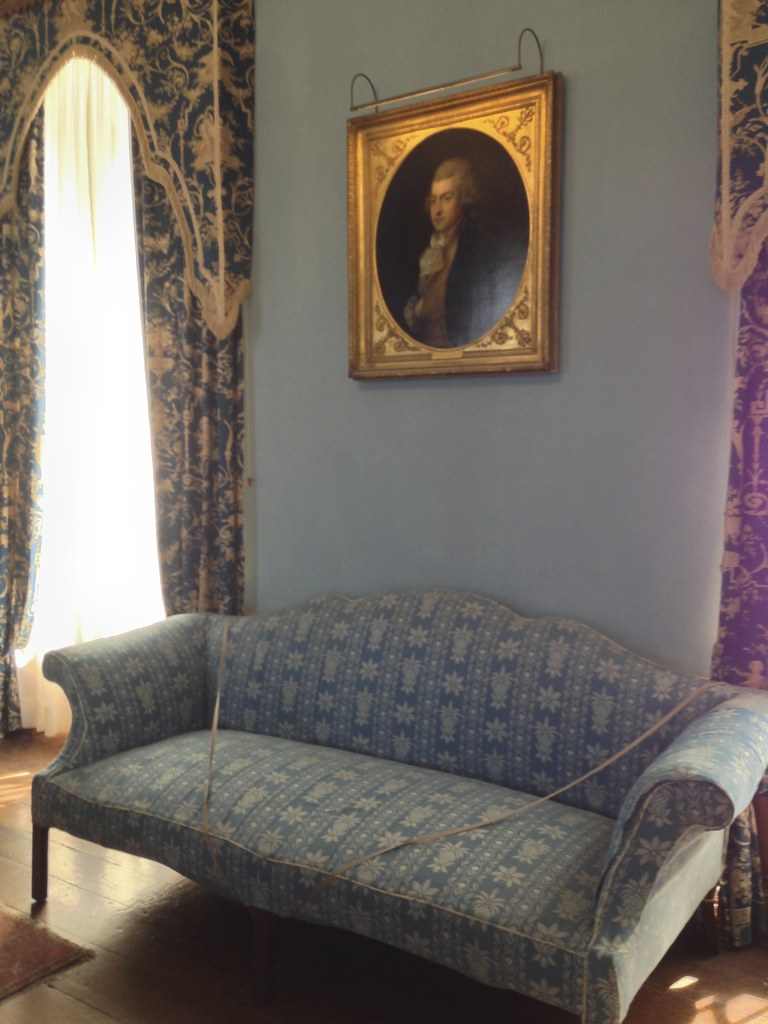 Drawing Room Blue Floor Paint