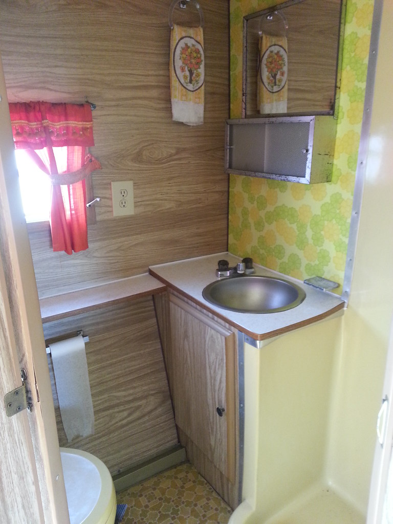 ... 1973 Aljo Travel Trailer Bathroom | By Sadayo