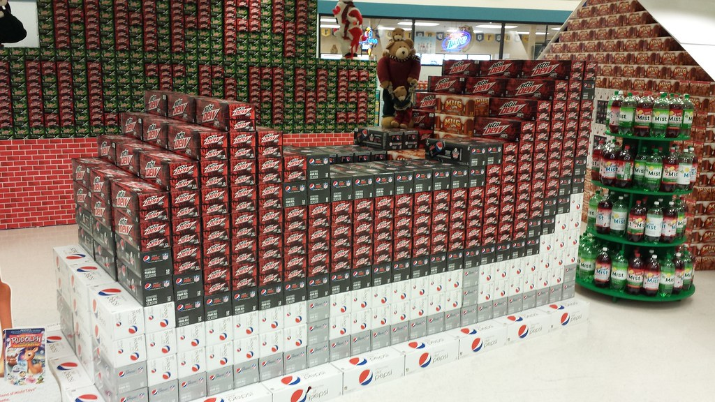 Pepsi Display Super Bowls