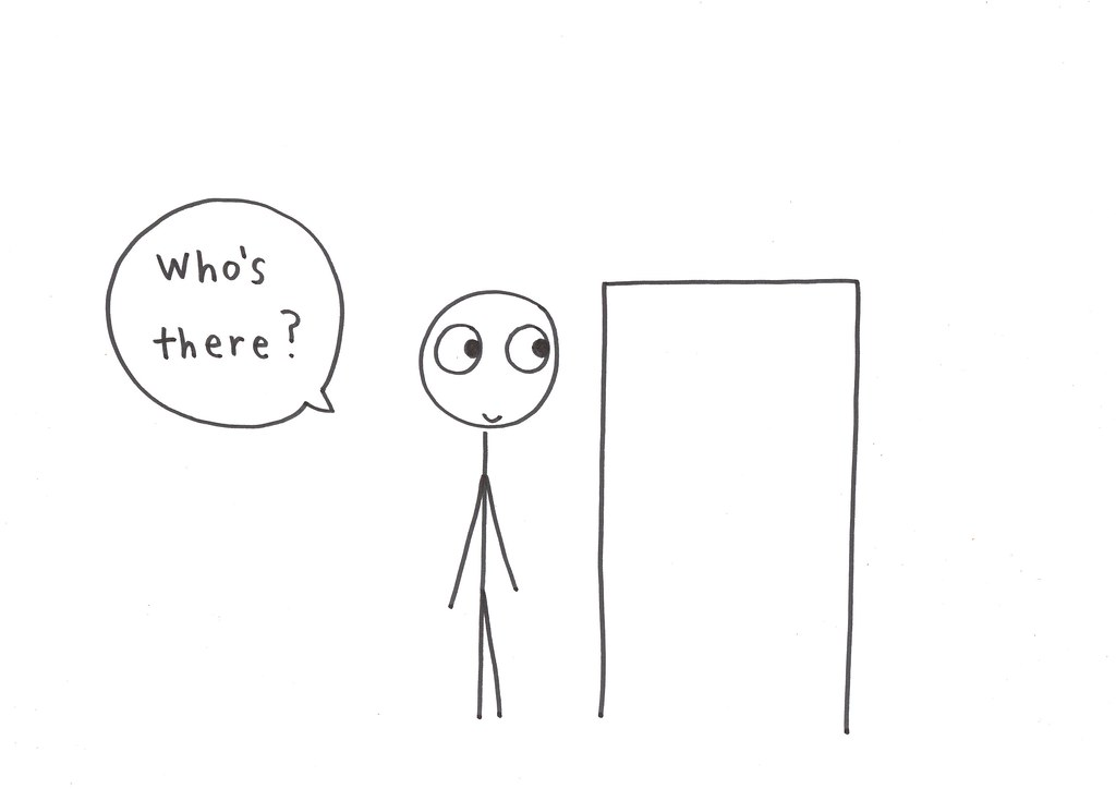 knock knock you know this drawing is from friday joke on flickr