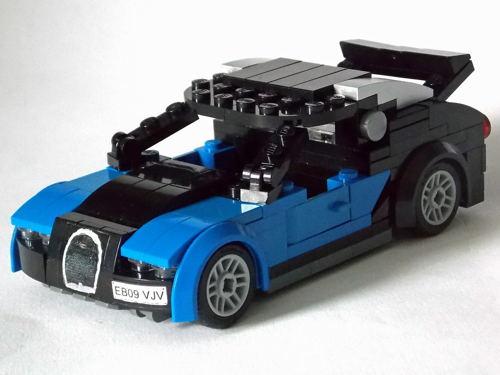 lego minifigure scale car 7 wide bugatti veyron 1 flickr. Black Bedroom Furniture Sets. Home Design Ideas