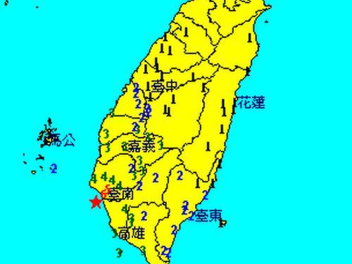 台南でマグニチュード5.6、震度6の大地震