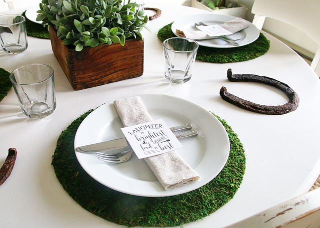 Neutral Green Table Settings
