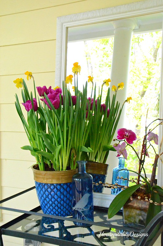 Spring Flowers-Tea Cart-Spring Porch-Housepitality Designs