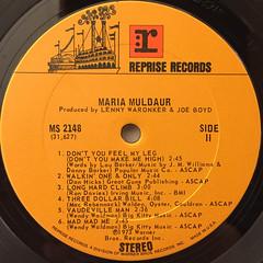MARIA MULDAUR:MARIA MULDAUR(LABEL SIDE-B)