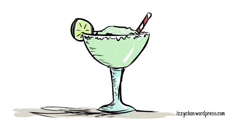 in a margarita glass