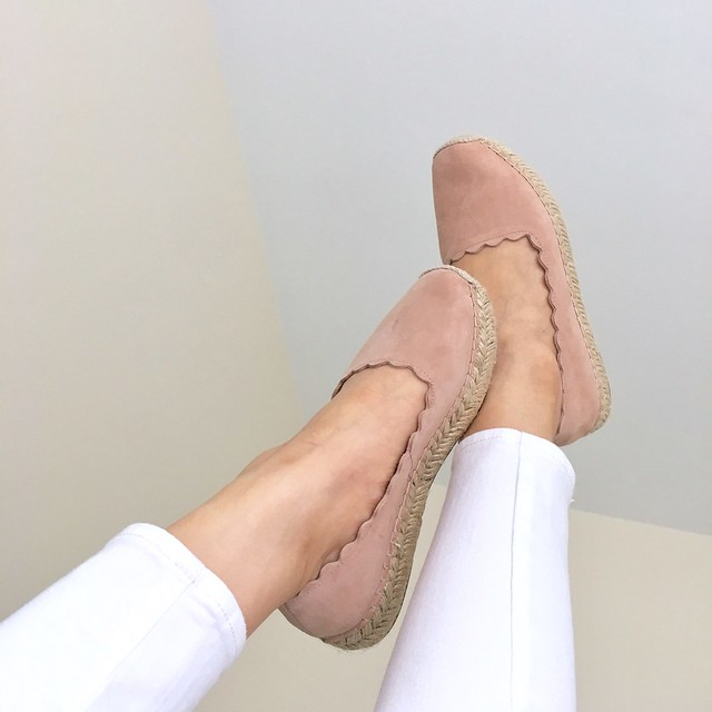 Crown Vintage Bahamas Flat in blush