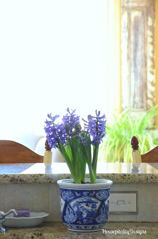 Hyacinths-Blue and white-Kitchen-Housepitality Designs