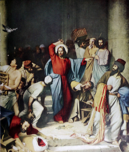 Christ Driving Monrylenders from the Temple by Carl Bloch
