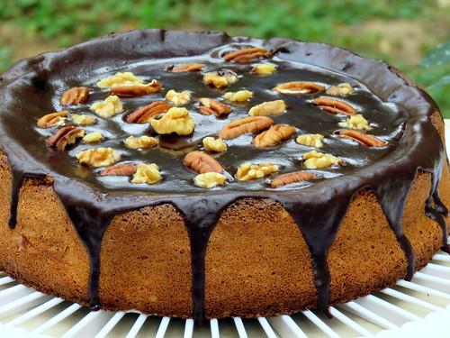 Pesach Nut Cake with Chocolate Glaze