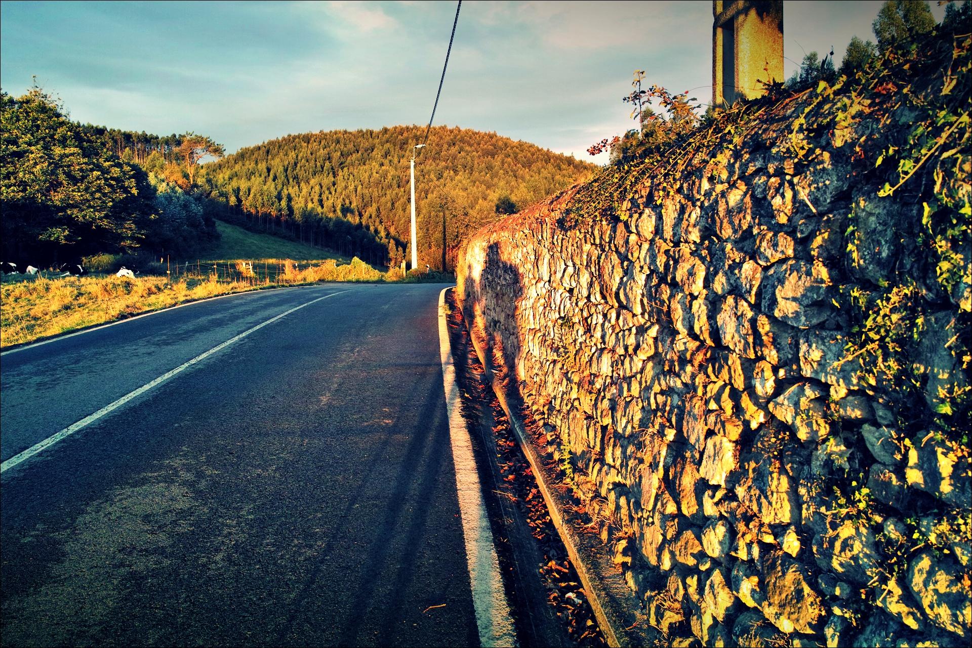 돌담길-'카미노 데 산티아고 북쪽길. 궤메스에서 산탄데르. (Camino del Norte - Güemes to Santander)'