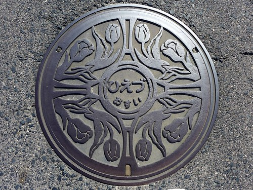 Hiezu Tottori, manhole cover (鳥取県日吉津村のマンホール)
