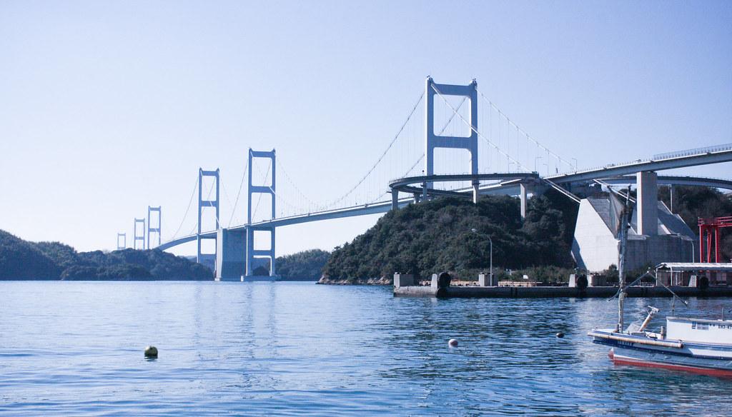 尾道発/しまなみ海道/多々羅大橋/来島海峡大橋/サイクリング観光5時間