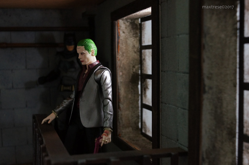 SHF Joker Suicide Squad and Mafex Batman BvS
