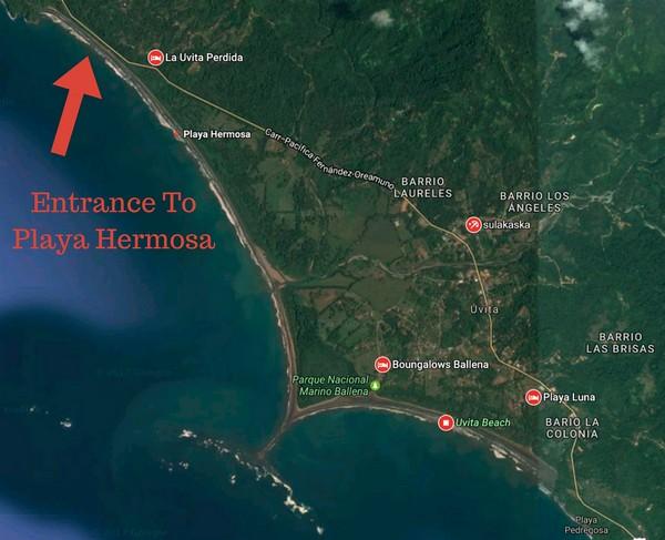 Playa Hermosa Map