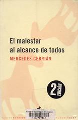 Mercedes Cebrián, El malestar al alcance de todos