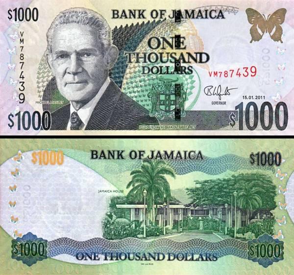 1000 Dolárov Jamajka 2011, P86i