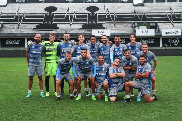 Treino Grêmio no Paraguai 19/04/17