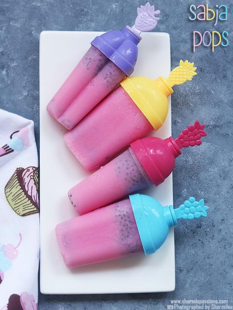 Rosemilk sabja popsicle