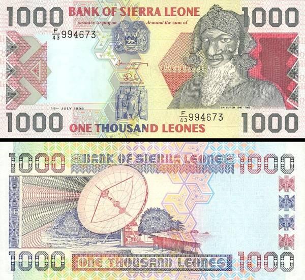 1000 Leones Sierra Leone 2003, P24b