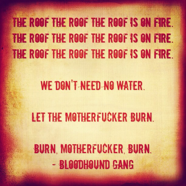 Exceptional #Fire #Water #Burn By #BloodhoundGang #song #lyrics #musicu2026 | Flickr