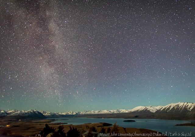 Moonlit Starry Sky over Lake Tekapo