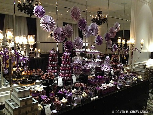 Custom Purple Wedding Chocolate Candy Table