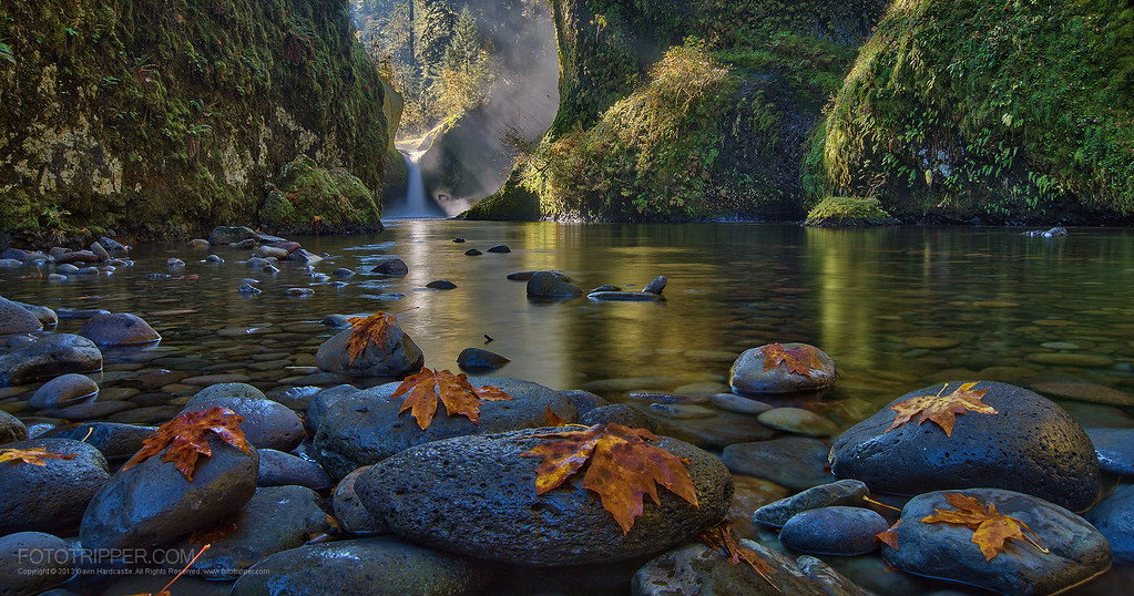Steamy Mornings - Punch Bowl Falls, Columbia River Gorge, Oregon