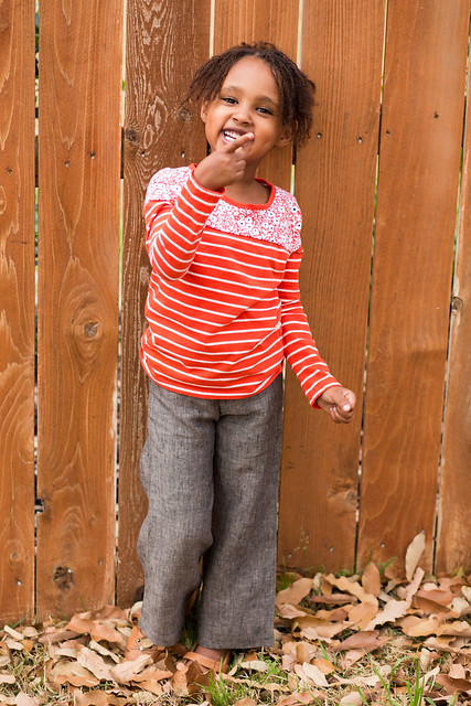 sew chic kids - linen pants