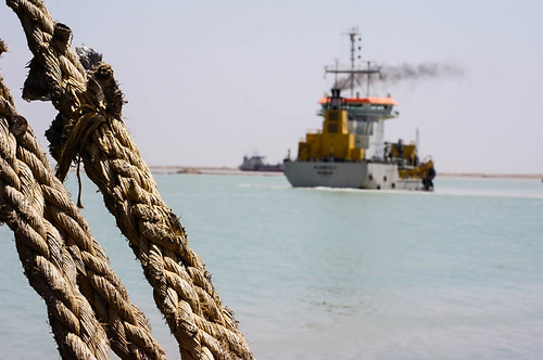 Dredgers, Khor Al-Zubair Port, Iraq | by Earth & Marine Environmental Consultants (EAME)