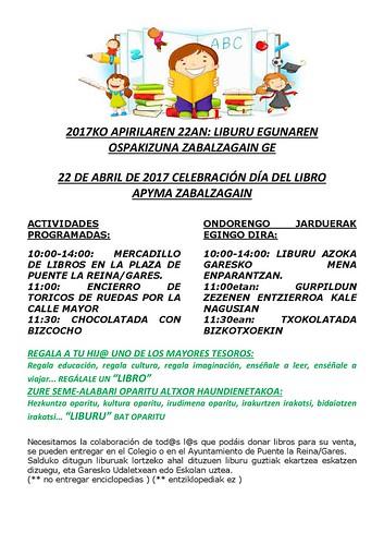 CELEBRACIÓN DÍA DEL LIBRO APYMA ZABALZAGAIN 2017