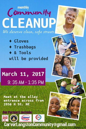 CarverLangston_Community-Cleanup-Flyer_March_FINAL