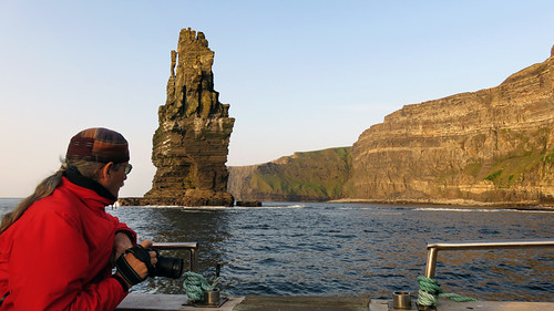 The Aran Islands ferry makes a side trip to underneath the Cliffs of Moher