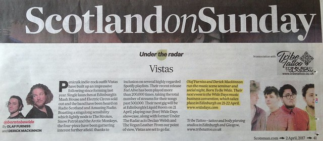 Scotland On Sunday, 2 April 2017, Vistas