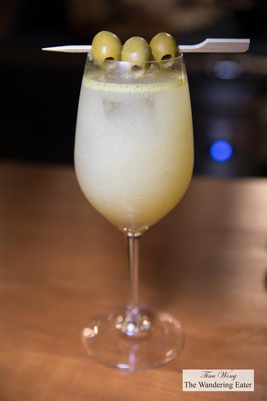 Costa Brava Gin Tonic - Tanqueray 10, olive, apricot